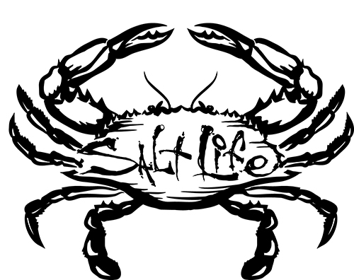 Salt Life Salty Crab Decal