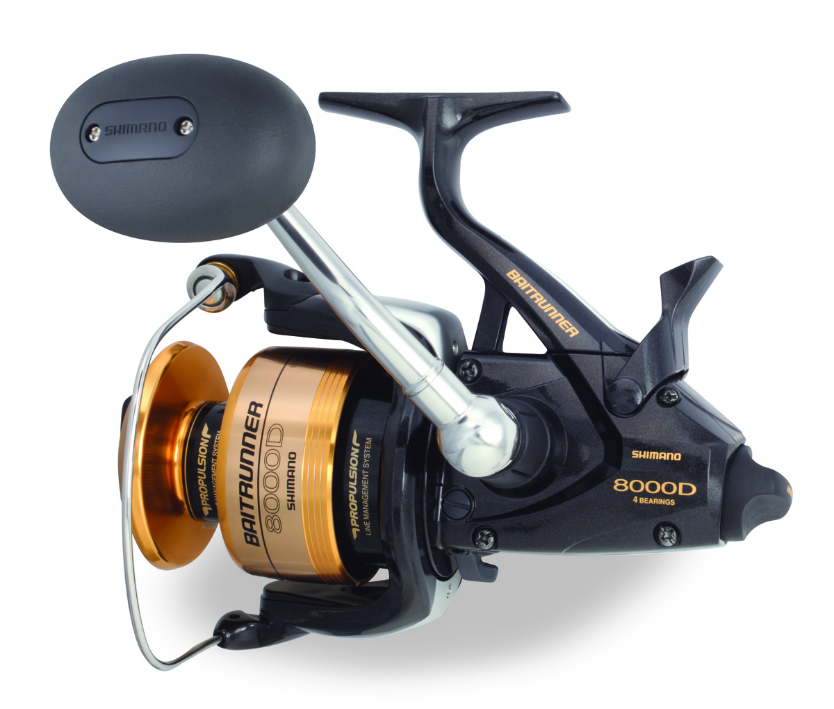 Shimano btr8000d baitrunner d spinning reel for Best fishing line for spinning reels
